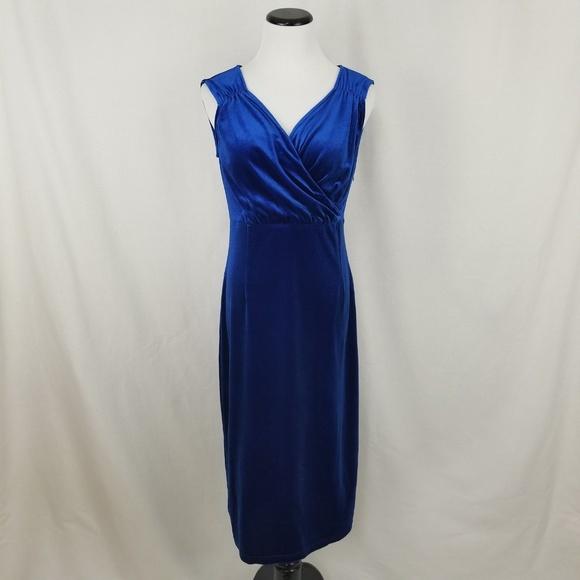 amelia Dresses & Skirts - NEW Amelia Bright Sapphire Blue Long Velvet Dress